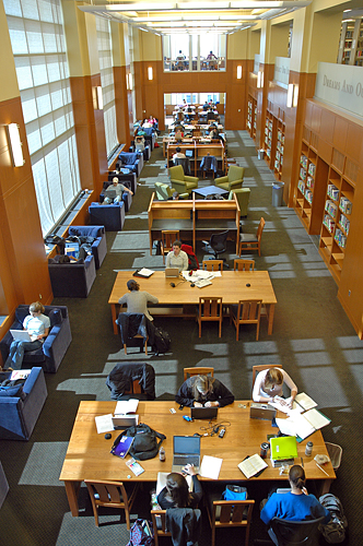 Duke Libraries reading room